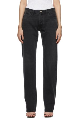 The Attico Grey Long Baggy Jeans