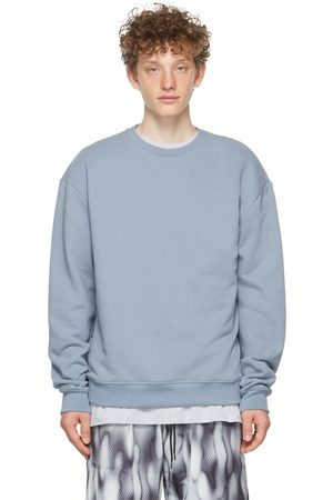 JOHN ELLIOTT Uomo Felpe - Blue Oversized Pullover Sweatshirt