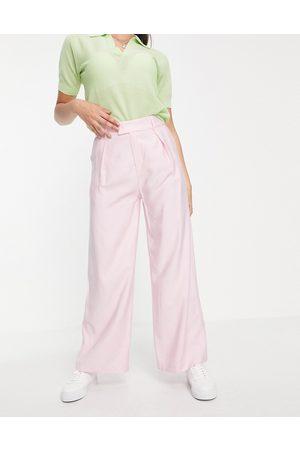 Love Triangle Donna Leggings & Treggings - Pantaloni sartoriali a fondo ampio pallido