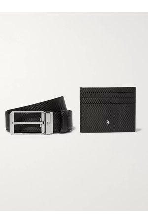 Mont Blanc Uomo Cinture - 3.5cm Woven Leather Belt and Cardholder Gift Set