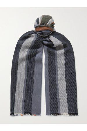 Loro Piana Uomo Sciarpe - Fringed Striped Cashmere Scarf
