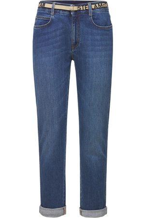 STELLA MCCARTNEY Jeans Skinny Boyfriend Fit In Denim Di Cotone