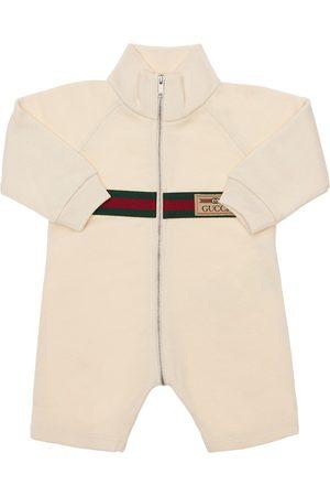 Gucci Tutina In Cotone Con Logo