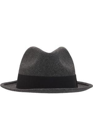 Saint Laurent Uomo Cappelli - Cappello Fedora Con Nastro In Grosgrain