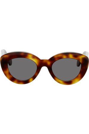 Loewe Donna Occhiali da sole - Brown Butterfly Anagram Sunglasses