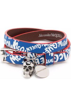 Alexander McQueen Bracciale con logo