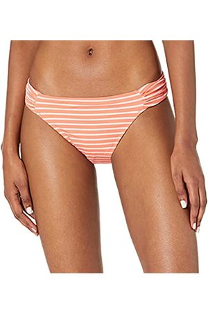 Amazon Donna Bikini - Side Tab Bikini Bottom Fashion-Swimsuit-Bottoms-Separates, Red & Pink Stripe, US M -L