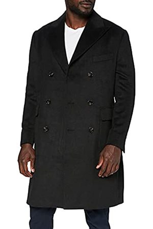 FIND Marchio Amazon - Wool Mix Double Breasted Smart Giubbotto Uomo, , L, Label: L