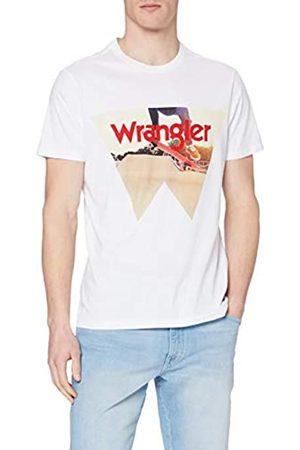 Wrangler Photo W Tee T-Shirt, Bianco , XXL Uomo