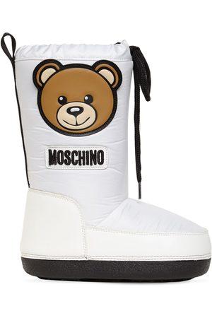 Moschino Stivali In Nylon Con Patch