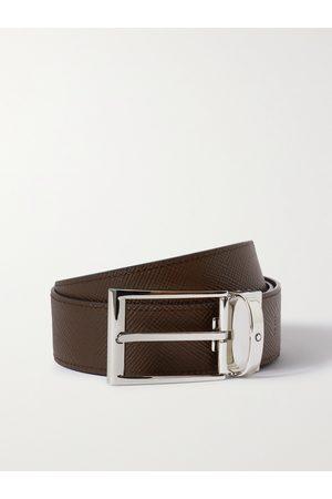 MONTBLANC Uomo Cinture - 3.5cm Reversible Textured-Leather Belt