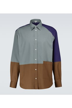 Loewe Camicia patchwork in cotone