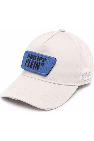 Philipp Plein Cappello da baseball con effetto vissuto - Toni neutri