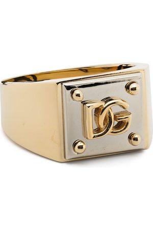 Dolce & Gabbana Anello con logo bicolore