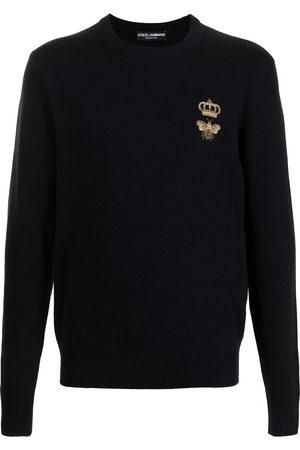 Dolce & Gabbana Uomo Felpe - Maglione con applicazione - B0665