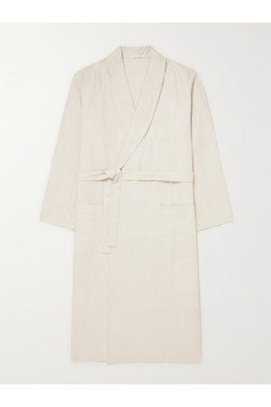 ÉCHAPPER Belted Linen-Canvas Robe