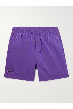TRUE TRIBE Neat Steve Mid-Length Iridescent Checked ECONYL Swim Shorts