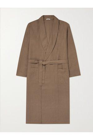 ÉCHAPPER Uomo Pigiami - Belted Linen-Canvas Robe
