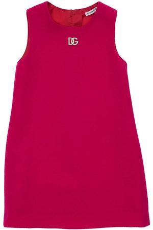 Dolce & Gabbana Donna Vestiti senza maniche - Vestito Senza Maniche In Lana Con Logo
