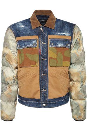 DSQUARED2 Uomo Giacche di jeans - Giacca In Denim Di Cotone E Camouflage