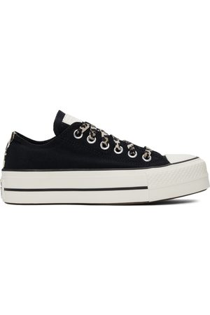 Converse Donna Trainers - Black Platform Chuck Taylor All Star Low Sneakers