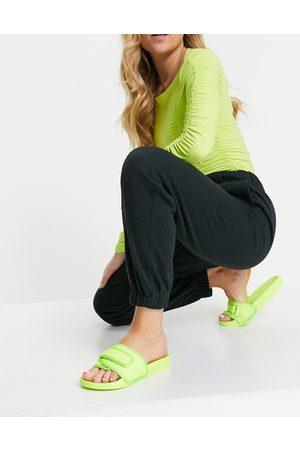 ASOS Donna Infradito - Flip - Sliders sportive lime