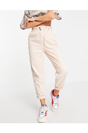 Topshop Donna Leggings & Treggings - Pantaloni con pinces stile casual a vita alta