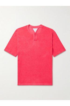 Bottega Veneta Cotton-Blend Terry Henley T-Shirt