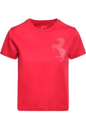 FERRARI STORE T-shirt In Jersey Di Cotone Con Logo