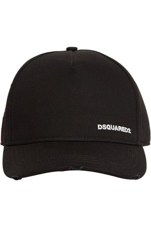 DSQUARED2 Cappello Piccolo In Gabardina Di Cotone Con Logo