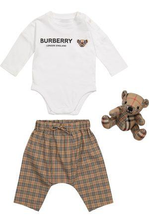 Burberry Baby - Body, pantaloni e orsetto Thomas Bear