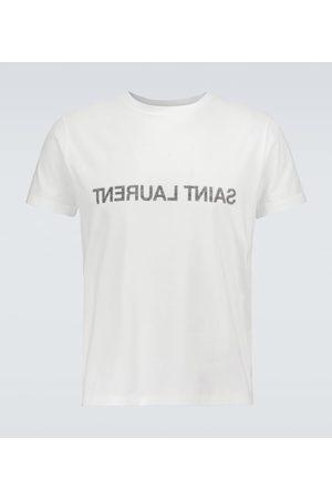 Saint Laurent Uomo T-shirt a maniche corte - T-shirt in cotone con logo