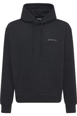 Jacquemus Felpa Le Sweatshirt Brodé In Jersey Con Cappuccio