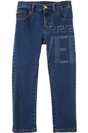 VERSACE Jeans In Di Cotone Stampa Logo