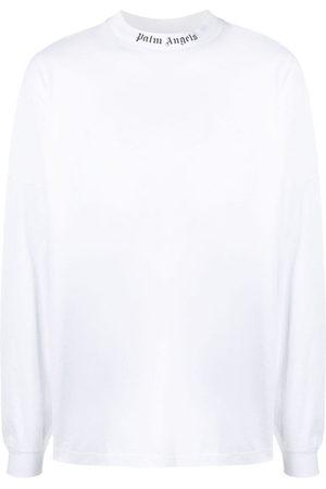 Palm Angels T-shirt a maniche lunghe Doubled Logo