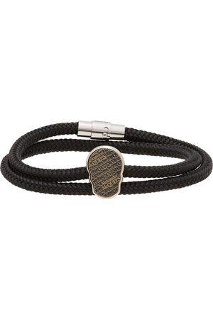 Alexander McQueen Black & Silver Skull Tag Bracelet
