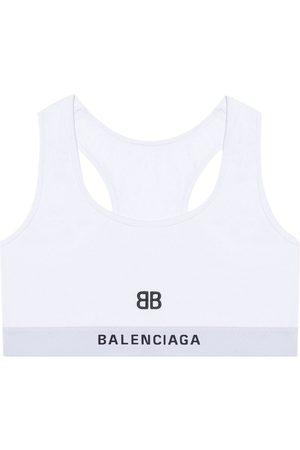 Balenciaga Donna Intimo sportivo - Reggiseno sportivo con ricamo