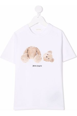Palm Angels T-shirt Polo Bear con stampa