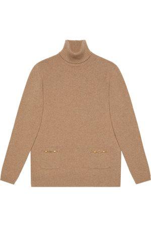 Gucci Donna Collo alto - Maglione a collo alto in cashmere con GG