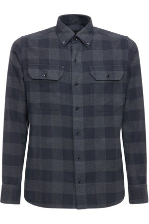 Tom Ford Camicia In Cotone Check