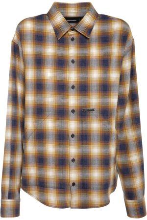 Dsquared2 Donna Camicie - Camicia Oversize In Cotone Check
