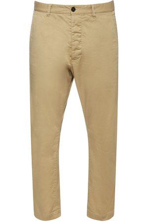 Dsquared2 Pantaloni Hockney Fit In Twill Di Cotone Stretch