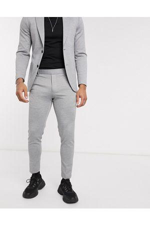 Only & Sons Pantaloni da abito slim morbidi destrutturati grigi