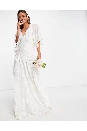ASOS Jessica - Vestito da sposa ricamato in plumetis a rete