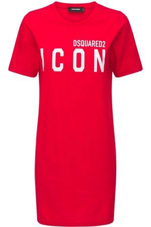 """DSQUARED2 Vestito """"icon Renny"""" In Jersey Di Cotone"""