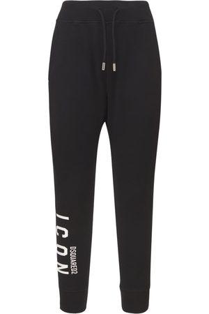 Dsquared2 Pantaloni Jogging In Jersey Di Cotone Con Logo