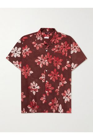 Post-imperial Camp-Collar Printed Cotton Shirt