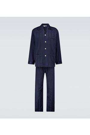DEREK ROSE Uomo Pigiami - Completo pigiama Lingfield in cotone