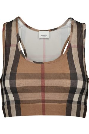 Burberry Top sportivo in jersey Vintage Check