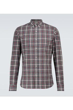 Brunello Cucinelli Uomo Camicie a maniche lunghe - Camicia in flanella a quadri